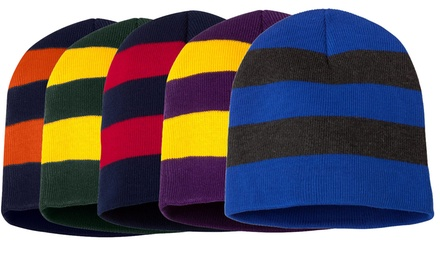 Republic Unisex Striped Beanie Cap