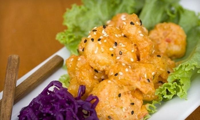 Iron Wok Asian Bistro - San Ysidro: Dinner with Drinks for Two or Four at Iron Wok Asian Bistro (Up to 53% Off)