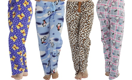 3-Pack of Women's Flannel Fleece Pajamas