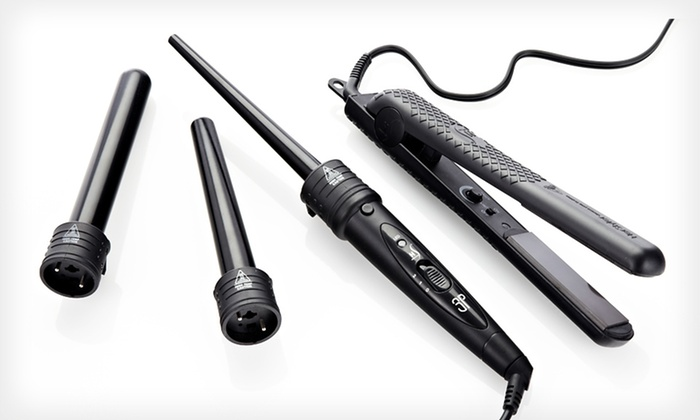 HerStyler Super Set with Three-Piece Curling Wand and Straightener: $59.99 for a HerStyler Hair Straightener and Curler in Black or Hot Pink ($355 List Price). Free Shipping and Returns.