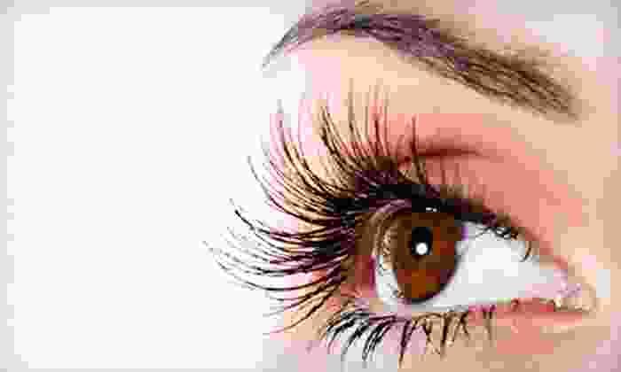 1412 Hair Studios Spa & Cosmetics - Plainfield: Full Set of Eyelash Extensions with Optional Makeup Application at 1412 Hair Studios Spa & Cosmetics (Up to 55% Off)