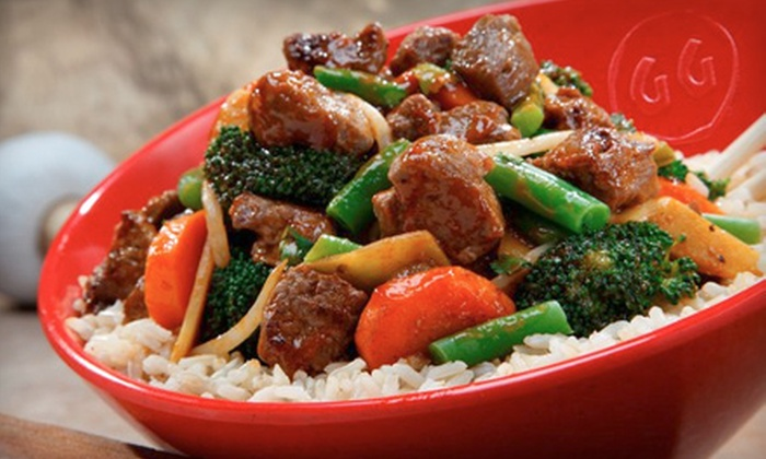 Genghis Grill - Central Business District - Downtown: $10 for $25 Worth of Mongolian Stir-Fry and Drinks at Genghis Grill