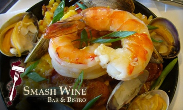 Smash Wine Bar & Bistro - Wallingford: $25 for $50 Worth of Wine and Contemporary Cuisine at Smash Wine Bar & Bistro