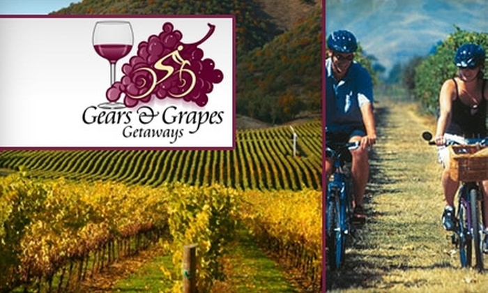 Gears and Grapes Getaways, Inc - San Francisco: $134 Bike Tour to Napa Valley or Sonoma with Gears and Grapes Getaways ($269 Value)