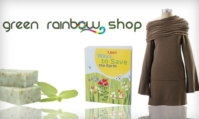 Green Rainbow Shop: $20 for $40 Worth of Eco-Friendly Apparel, Accessories, and Home Goods from Green Rainbow Shop