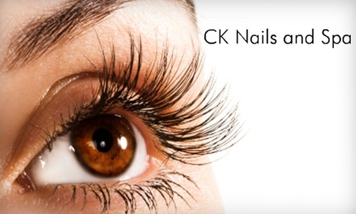 CK Nails and Spa - Bryant Pattengill West: Eyelash Extensions or Brazilian and Eyebrow Waxing at CK Nails and Spa in Ann Arbor. Choose Between Two Options.