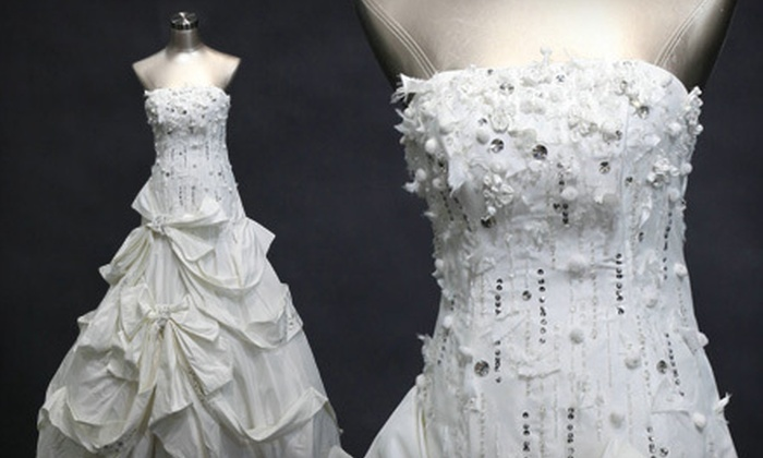 Memorial Wedding: Custom-Fitted Wedding Dress from Memorial Wedding (Up to 57% Off). Three Options Available.