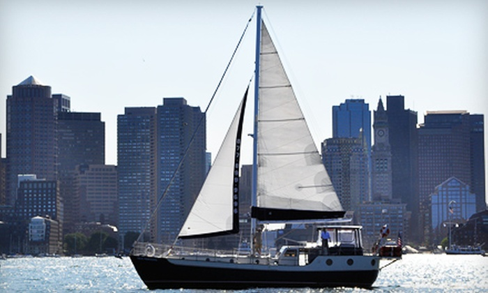 Seacoast Sailing - Jeffries Point - Airport: Two-Hour Sailing Adventure for Two or Four, or a Half-Day Private Charter in Boston Harbor from Seacoast Sailing