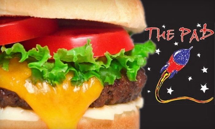 The Pad Restaurant - North Topeka East: $5 for $10 Worth of Burgers and More at The Pad Restaurant