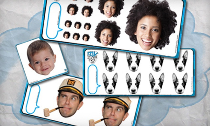 My Sticker Face: Custom Sticker Portraits from My Sticker Face (Up to 62% Off). Two Options Available.