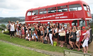 Robbies Double Decker Travel: Wine Tour + Lunch for One ($119), Two ($235) or Four People ($469) with Robbies Double Decker Travel (Up to $636 Value)