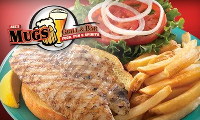 Mugs Grill & Bar - Clearwater: $9 for $20 Worth of Bar Fare and Drinks at Mugs Grill & Bar in Clearwater
