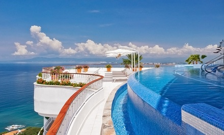 Stay with Breakfast Buffet at Grand Miramar Puerto Vallarta in Mexico. Dates into August.