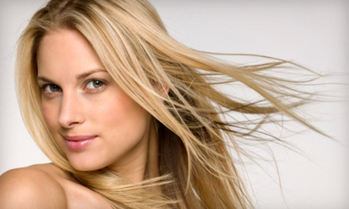 Quatsie Brim at Uptown Salon and Spa - Lakes of Bailey Ranch: Three-Piece Feathered Hair Extension or a Brazilian Blowout Treatment from Quatsie Brim at Uptown Salon and Spa in Owasso