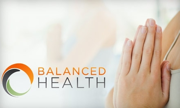 Balanced Health - Downtown: $50 for a Private One-on-One Yoga Session at Balanced Health ($100 Value)