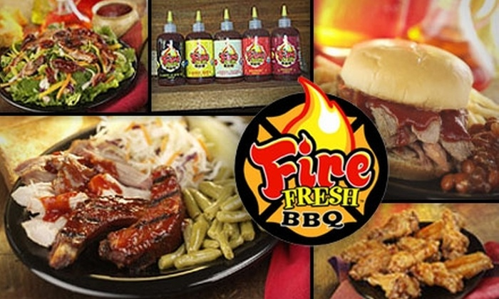 FireFresh BBQ - Multiple Locations: $4 for $8 Worth of Barbecue Bites and Beverages at FireFresh BBQ