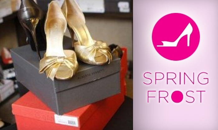 Spring Frost - Brentwood: $50 for $100 Worth of Luxury-Brand Shoes at Spring Frost