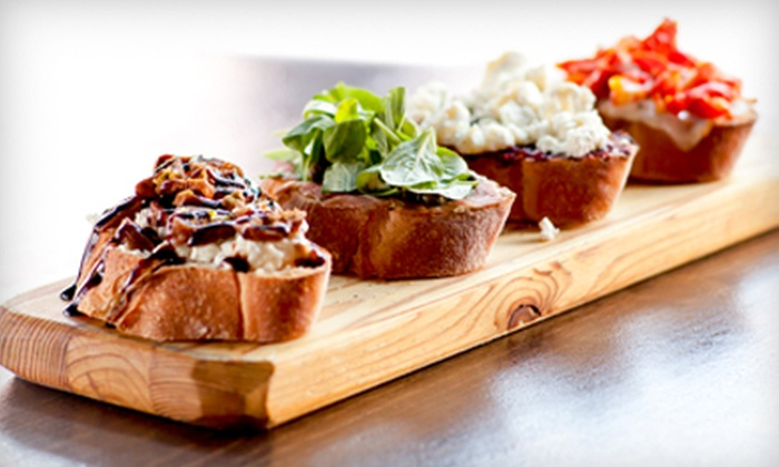 The Drop Bar and Bistro - Union Hill: Tapas-Style Meal with Starters, Small Plates, and Drinks for Two or Four at The Drop Bar and Bistro