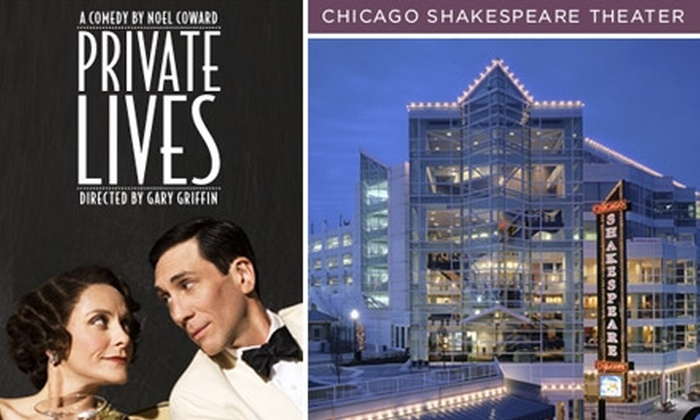 """Chicago Shakespeare Theater - Chicago: $25 for One Ticket to See """"Private Lives"""" at Chicago Shakespeare Theater. Buy Here for January 12 at 7:30 p.m. More Dates and Times Below."""