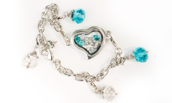 Stamp the Moment: Locket Necklace or Bracelet with Optional Dangles and Charms from Stamp the Moment (Up to 61% Off)