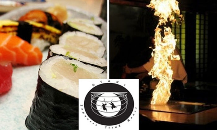 Otani Japanese Steak & Seafood - Chantilly: $15 for $30 Worth of Sushi and Fine Japanese Fare from Otani Japanese Steak & Seafood