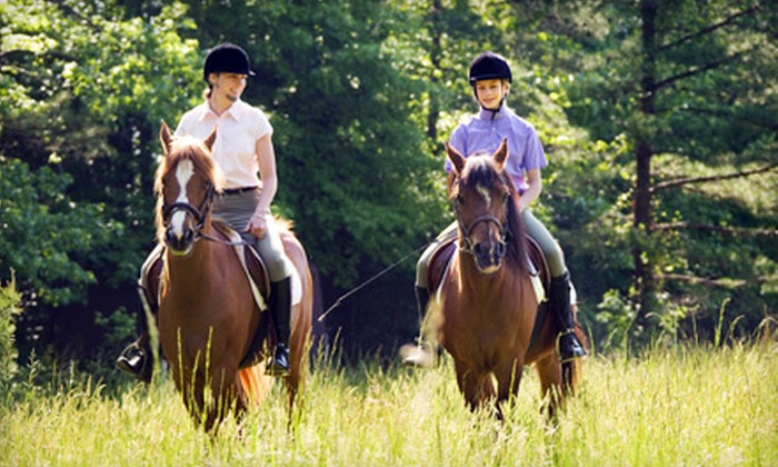 Equine Education Shelby Trails Park - Simpsonville: $25 for a Guided Trail Ride for Two from Equine Education Shelby Trails Park in Simpsonville ($50 Value)