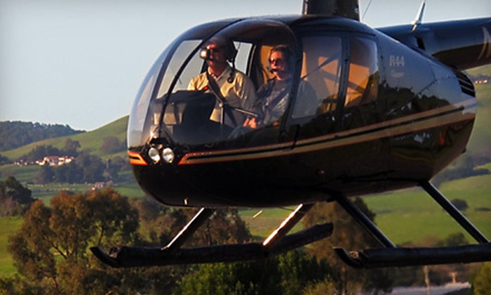 Heloventure Helicopter - Petaluma: $229 for Helicopter Tour and Breakfast or Lunch for Two from Heloventure Helicopter in Petaluma ($460 Value)