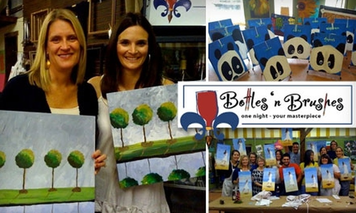 Bottles 'n Brushes - Multiple Locations: $15 for a Two-Hour Painting Class at Bottles 'n Brushes
