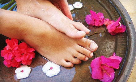 Pedicure and Paraffin Package (a $65 total value) - Moderne Salon and Day Spa in Providence