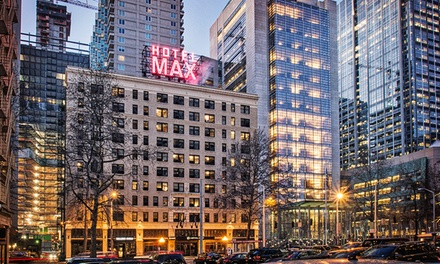 Groupon Deal: Stay and Daily Valet Parking at Hotel Max in Seattle; Dates into December