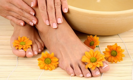 Regular Mani-Pedi or Shellac Manicure and Regular Pedicure at Beachside Salon (Up to 53% Off)