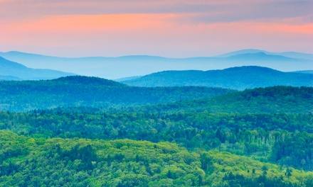 groupon daily deal - 1-Night Stay for Two with Optional Dining Credit and Museum Tickets at Harwood Hill Motel in Bennington, VT