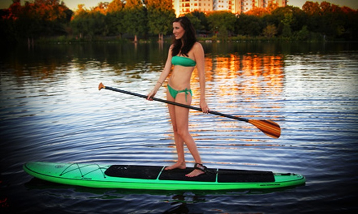 EpicSUP - Austin: Stand-up Paddleboard Rental for One or Two, Rental With High-Def Camera, or Lesson at EpicSUP (Up to 53% Off)