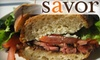 Savor - CLOSED - Old Town Manchester: $7 for $15 Worth of Café Fare at Savor