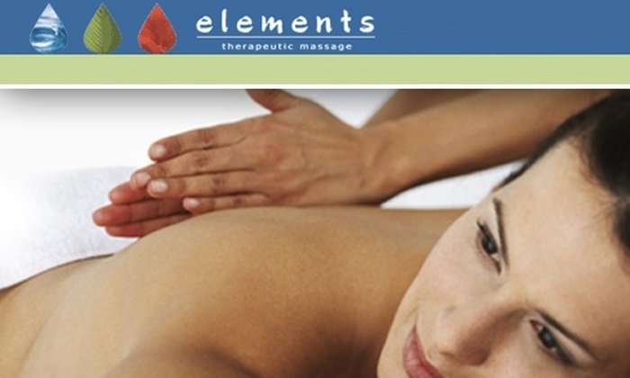 Elements Therapeutic Massage - Burlington: $50 for $100 Worth of Massage Services at Elements Therapeutic Massage in Burlington.  See Below for 10 Additional Locations.