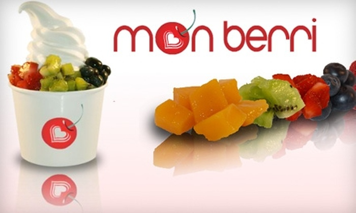 Mon Berri - Downtown Toronto: $5 for Two Small Frozen Yogurts with Three Toppings Each at Mon Berri ($10.16 Value)