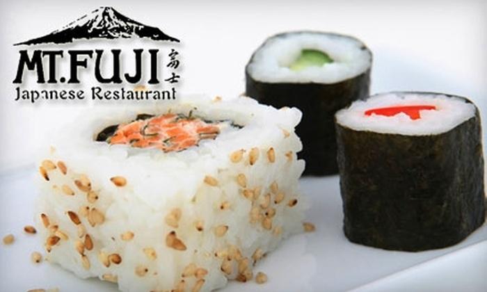 Mt. Fuji Japanese Restaurant - West Markham: $15 for $30 of Sushi and Japanese Cuisine at Mt. Fuji Japanese Restaurant