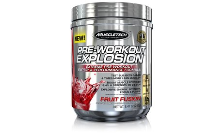 MuscleTech Pre-Workout Explosion Supplement (1- or 2-Pack)