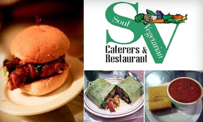 Soul Vegetarian East - Greater Grand Crossing: $10 for $20 Worth of Down-Home Vegetarian Fare and Drinks at Soul Vegetarian East