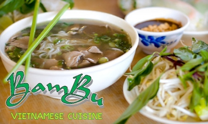 Bambu - Springfield: $10 for $20 Worth of Vietnamese Cuisine at Bambu