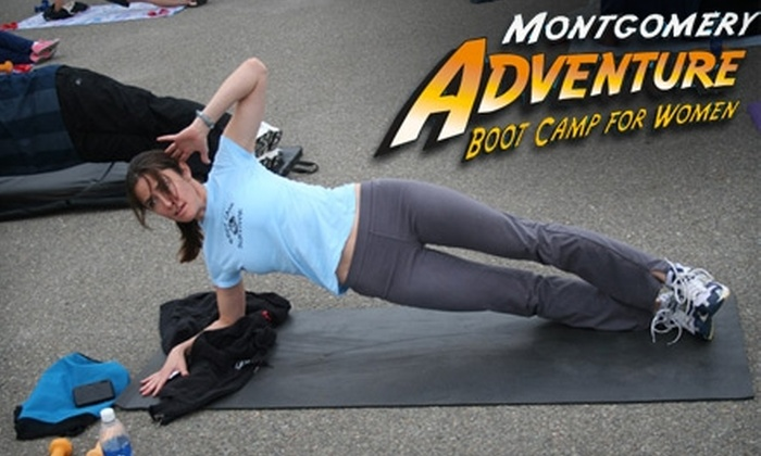 Montgomery Adventure Boot Camp - Multiple Locations: $75 for Eight Boot-Camp Sessions at Montgomery Adventure Boot Camp ($150 Value)