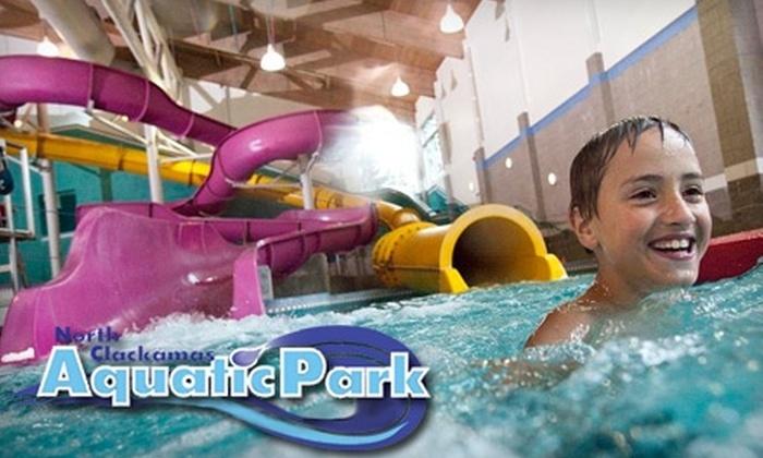 North Clackamas Aquatic Park - North Clackamas: Admission to Big Surf!, Rock Climbs, and Lockers at North Clackamas Aquatic Park in Milwaukie. Choose from Two Options.