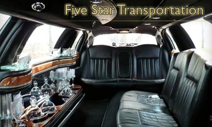 Five Star Transportation - Indianapolis: $45 for One Hour of Luxury Limousine Service from Five Star Transportation ($120 Value)