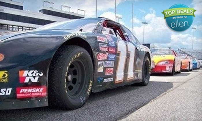 Rusty Wallace Racing Experience - Five Flags Speedway: 4-Lap Ride-Along or 15-Lap Racing Experience from Rusty Wallace Racing Experience at 5 Flags Speedway (Up to 51% Off)