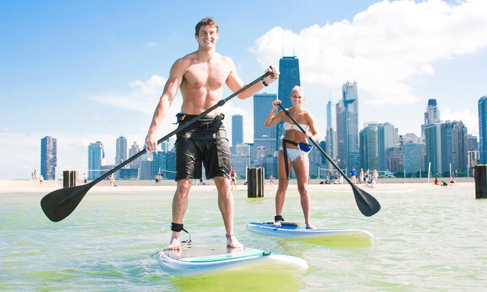 Chicago SUP - North Avenue Beach: Two-Hour Standup-Paddleboard Rental for One or Two from Chicago SUP (Up to 50% Off)