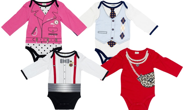 Babygear Long-Sleeved Dress-Up Infant Bodysuit: Babygear Long-Sleeved Dress-Up Infant Bodysuit. Multiple Options Available. Free Returns.