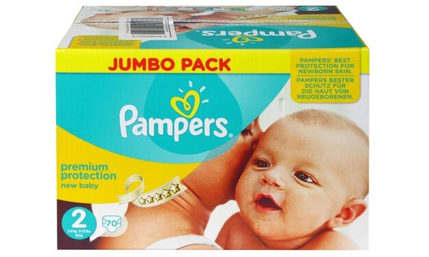 jumbo pack pampers new born groupon goods. Black Bedroom Furniture Sets. Home Design Ideas