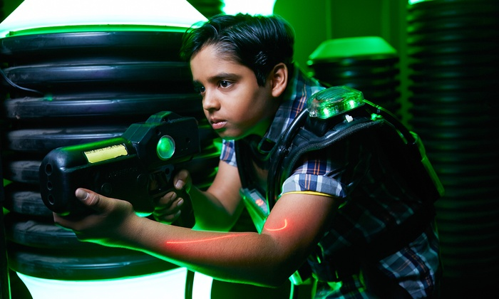 Barskis Xtreme Lazer Tag - Lansing: Two Rounds of Laser Tag and Miniature Bowling for Two, Four, or Six at Barskis Xtreme Lazer Tag (50% Off)
