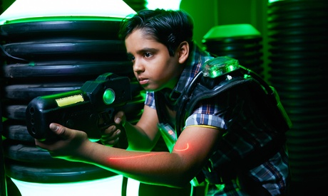 One Game of Laser Tag for Two or Three People with One $25 Game Card at Spare Time SC (Up to 56% Off)