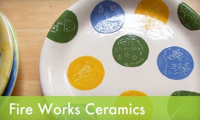 Fire Works Ceramics - Old Mountain View: $10 for $20 Worth of Pottery Painting at Fire Works Ceramics